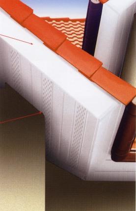 Profile de sous toiture for Eclairage exterieur sous toiture